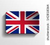 united kingdom 3d button   Shutterstock . vector #142818364