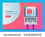 content editing  writing skill  ... | Shutterstock .eps vector #1428184433