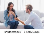 handsome man doing a marriage... | Shutterstock . vector #142820338