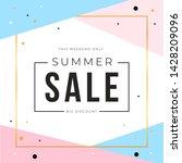 sale banner template design... | Shutterstock .eps vector #1428209096
