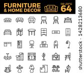 furniture and home decor... | Shutterstock .eps vector #1428213680