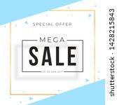 sale banner template design... | Shutterstock .eps vector #1428215843