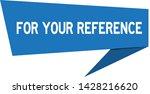 blue paper speech banner with... | Shutterstock .eps vector #1428216620