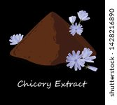 instant chicory root roasted... | Shutterstock .eps vector #1428216890