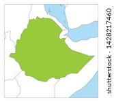 map of ethiopia green... | Shutterstock .eps vector #1428217460