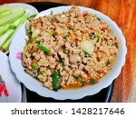 thai food made with pork  laab... | Shutterstock . vector #1428217646