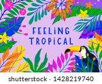 summer vector illustration with ... | Shutterstock .eps vector #1428219740