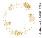 winter snowflakes and circles... | Shutterstock .eps vector #1428219926