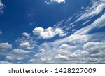 the vast blue sky and clouds sky | Shutterstock . vector #1428227009