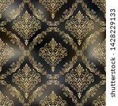 seamless vintage wallpaper or... | Shutterstock .eps vector #1428229133