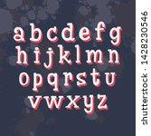 hand written alphabet. vector... | Shutterstock .eps vector #1428230546