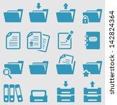 folder icons set.vector | Shutterstock .eps vector #142824364