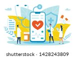 poster online medical...   Shutterstock .eps vector #1428243809
