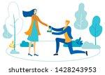 knee guy makes marriage... | Shutterstock .eps vector #1428243953