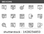 seo vector line icons set.... | Shutterstock .eps vector #1428256853