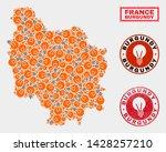 power bulb mosaic burgundy... | Shutterstock .eps vector #1428257210
