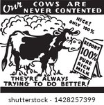our cows are never contented  ...   Shutterstock .eps vector #1428257399