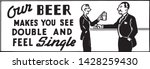 our beer   retro ad art banner...   Shutterstock .eps vector #1428259430