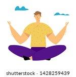 man meditating outdoors doing...   Shutterstock .eps vector #1428259439