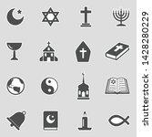 religion icons. sticker design. ... | Shutterstock .eps vector #1428280229