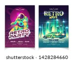 retro wave music party in... | Shutterstock .eps vector #1428284660