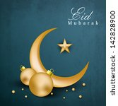 muslim community festival eid... | Shutterstock .eps vector #142828900