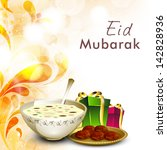 muslim community festival eid...   Shutterstock .eps vector #142828936
