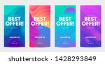 set of sale banner for social... | Shutterstock .eps vector #1428293849