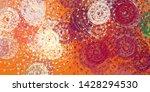 chaos and randomn. modern art... | Shutterstock . vector #1428294530