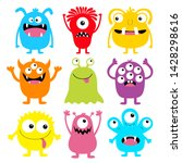 monster colorful round... | Shutterstock .eps vector #1428298616