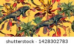 vintage background with... | Shutterstock .eps vector #1428302783