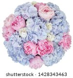 floral fresh bouquet pink blue | Shutterstock . vector #1428343463