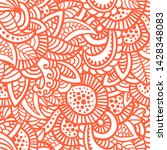 floral seamless pattern. doodle ...   Shutterstock .eps vector #1428348083