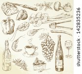 set of hand drawn food | Shutterstock .eps vector #142835236