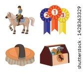 vector design of horseback and... | Shutterstock .eps vector #1428363329