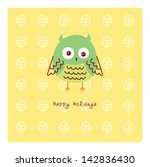 happy owl holidays | Shutterstock .eps vector #142836430