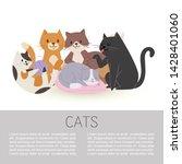 cartoon characters cute tabby... | Shutterstock .eps vector #1428401060