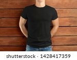 mockup clothes. muscular fit... | Shutterstock . vector #1428417359