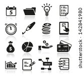collection of productivity and... | Shutterstock .eps vector #142841980