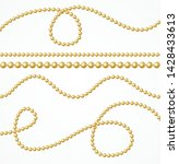 realistic 3d detailed gold... | Shutterstock .eps vector #1428433613
