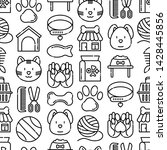 pet shop seamless pattern with... | Shutterstock .eps vector #1428445856