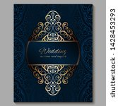 wedding invitation card with...   Shutterstock .eps vector #1428453293