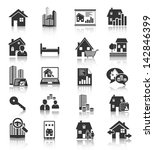 real estate icons | Shutterstock . vector #142846399
