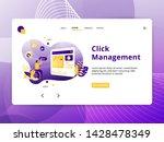flat illustration seo... | Shutterstock .eps vector #1428478349