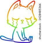 rainbow gradient line drawing... | Shutterstock .eps vector #1428485366