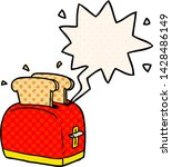 cartoon toaster toasting bread... | Shutterstock .eps vector #1428486149