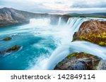 godafoss is a very beautiful...   Shutterstock . vector #142849114