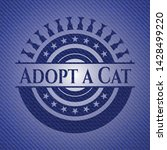 adopt a cat denim background.... | Shutterstock .eps vector #1428499220