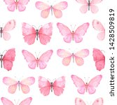 Seamless Pattern With Pink...