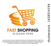 fast shopping concept logo... | Shutterstock .eps vector #1428514196